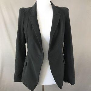 Zara Women's Solid Black Open Blazer Jacket Size S